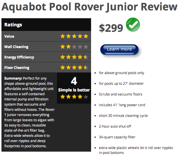 Toppick under500 robotic pool cleaners compared for Automatic pool cleaner reviews 2014