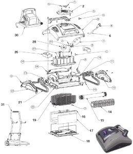 The Inside of a Robotic Pool Cleaner