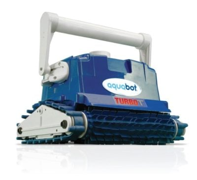 Aquabot turbo t front view robotic pool cleaners compared for Best robotic pool cleaner 2016
