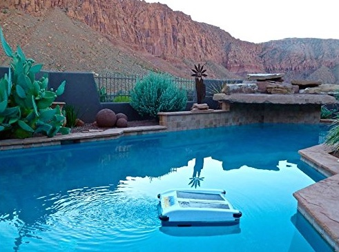 Solar Breeze NX Robotic Pool Cleaner in pool