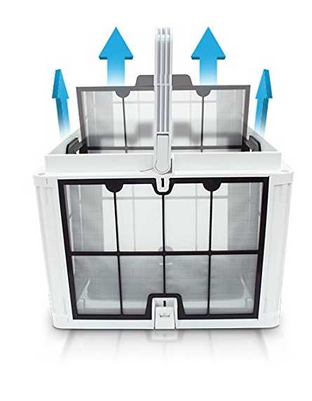 Dolphin Quantum robotic pool cleaner - large filter basket with snap lock