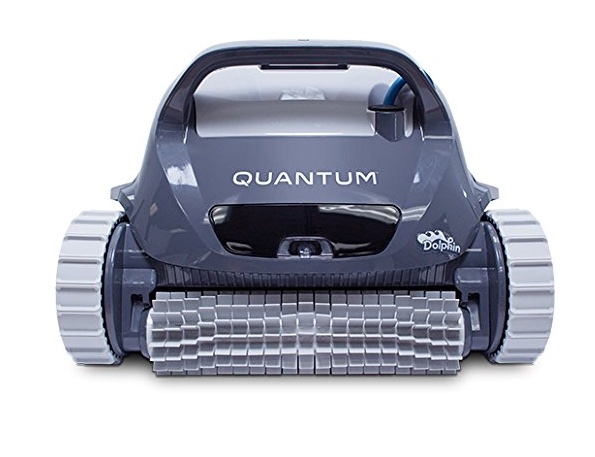 Dolphin Quantum robotic pool cleaner review - double spinning brushes