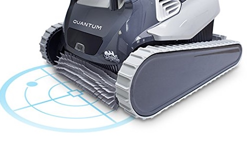 Dolphin Quantum robotic pool cleaner - targeting blue light