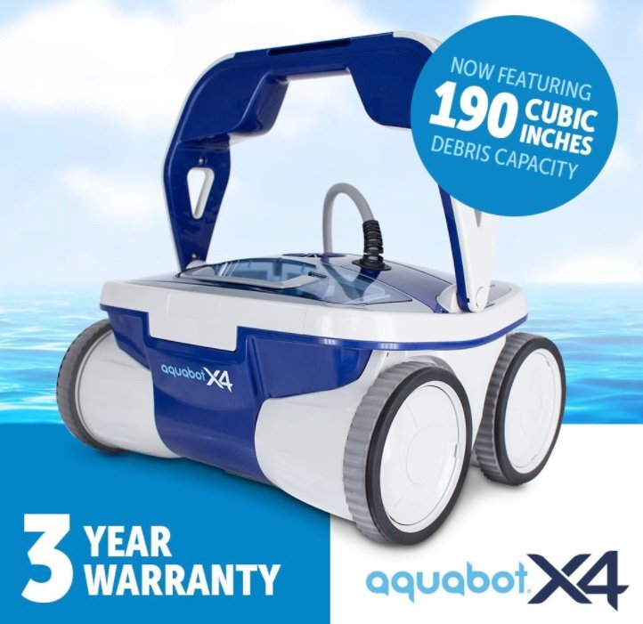 Aquabot X4 robotic pool cleaner review - hero shot