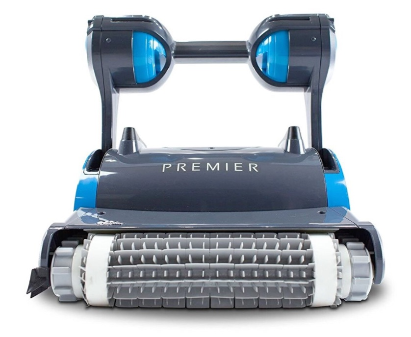 Dolphin Premiere robotic pool cleaner - front scrubbing brush