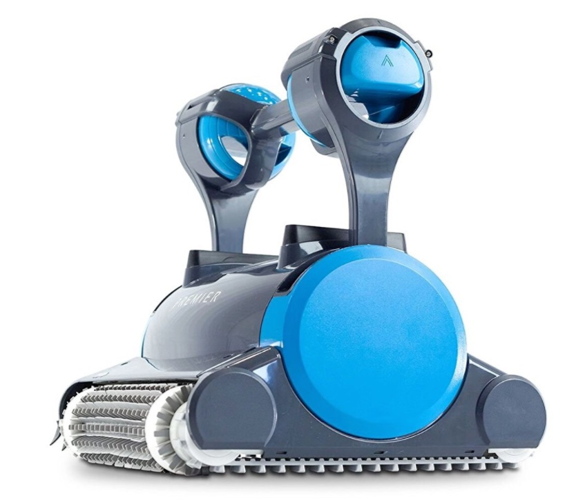 Dolphin Premiere robotic pool cleaner - side view tracks