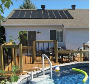 Roof-Mounted Solar Pool Heaters