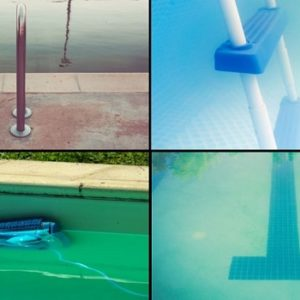 Cloudy water of swimming pool